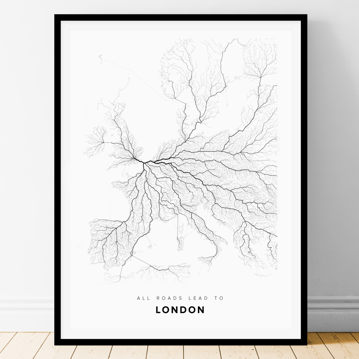 All Roads Lead to London (Portrait)